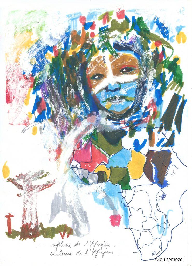 carnet de voyage imaginaire en Afrique ©louisemezel