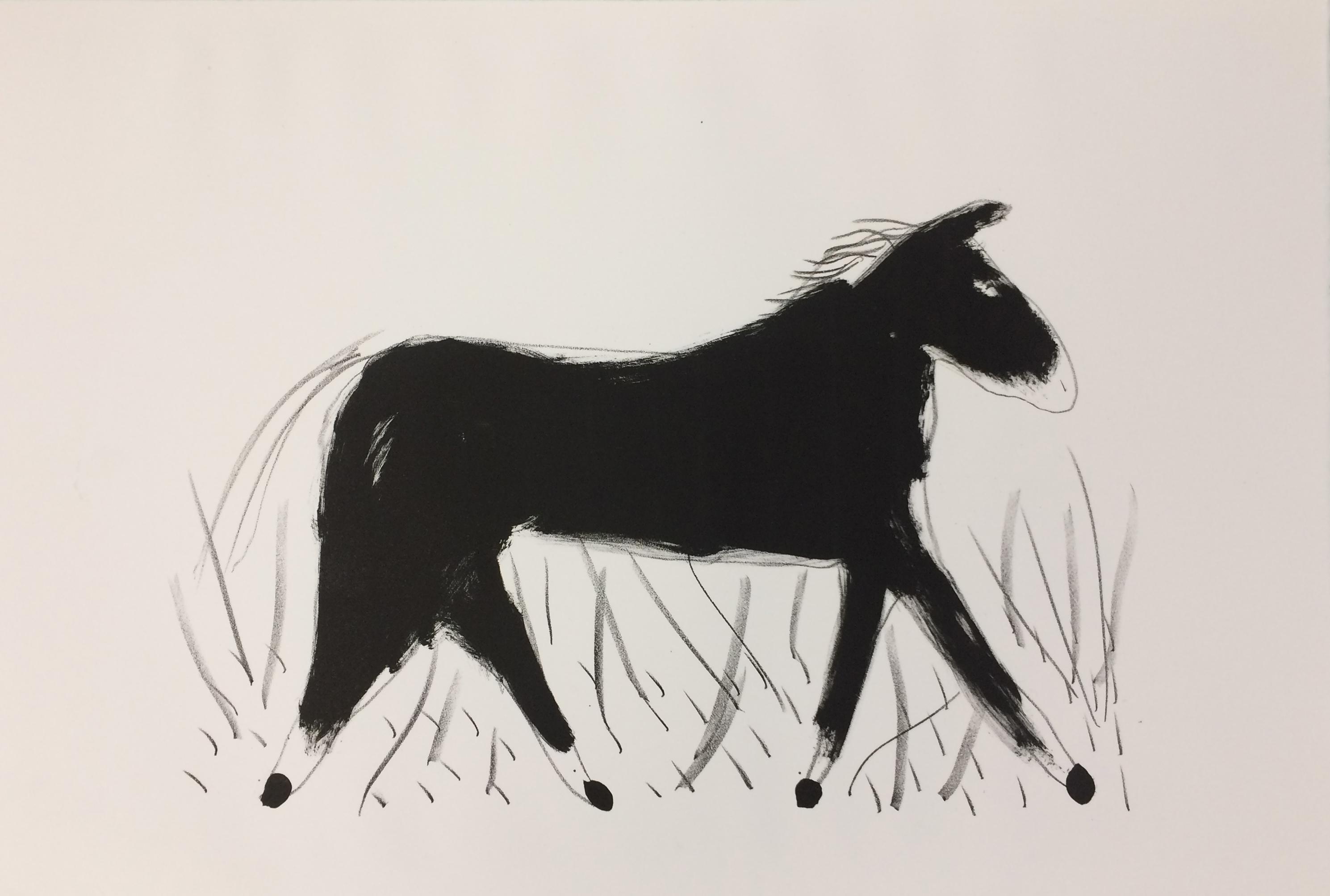 Le cheval, 38 x 56 cm