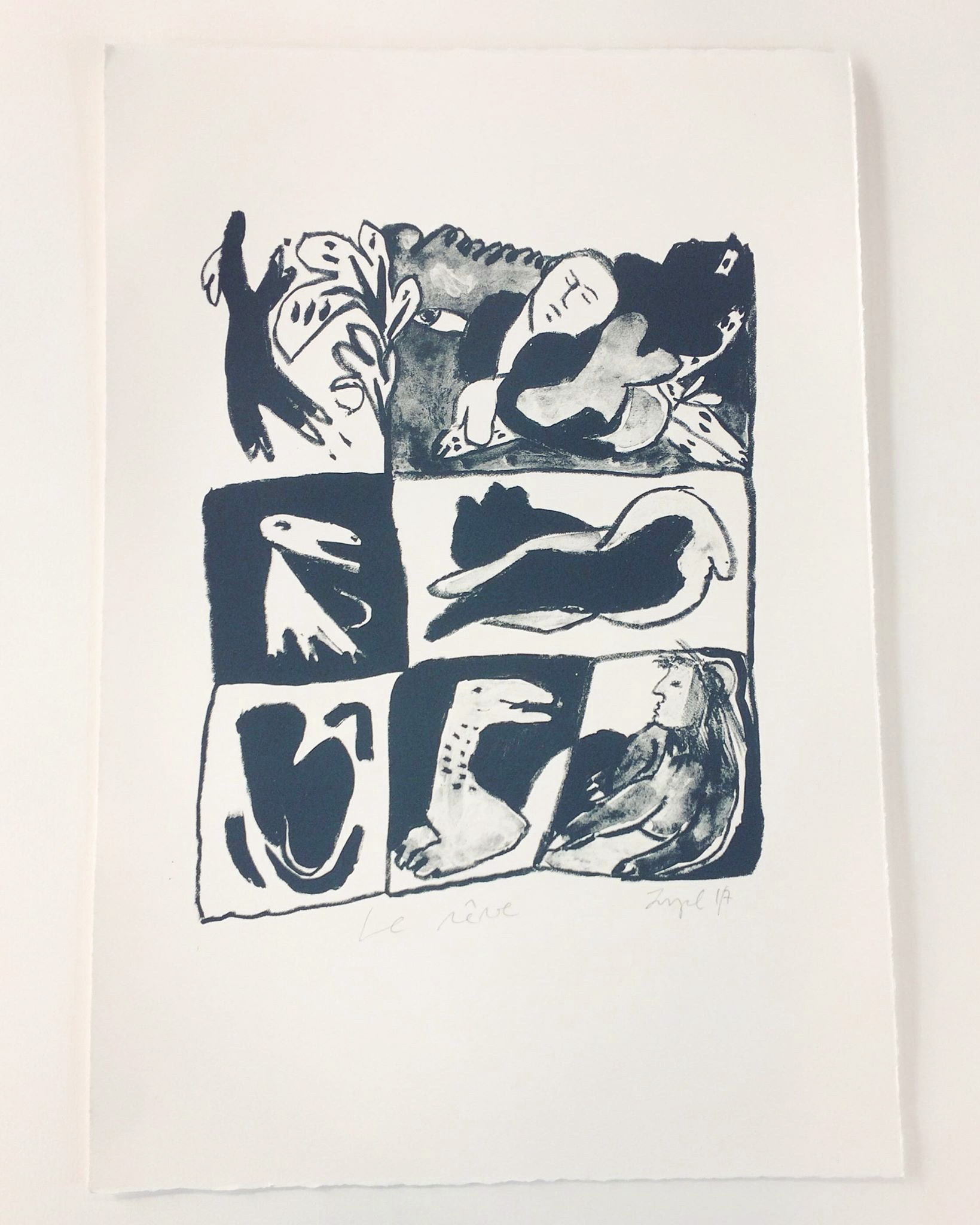 Le rêve, 38 x 56 cm