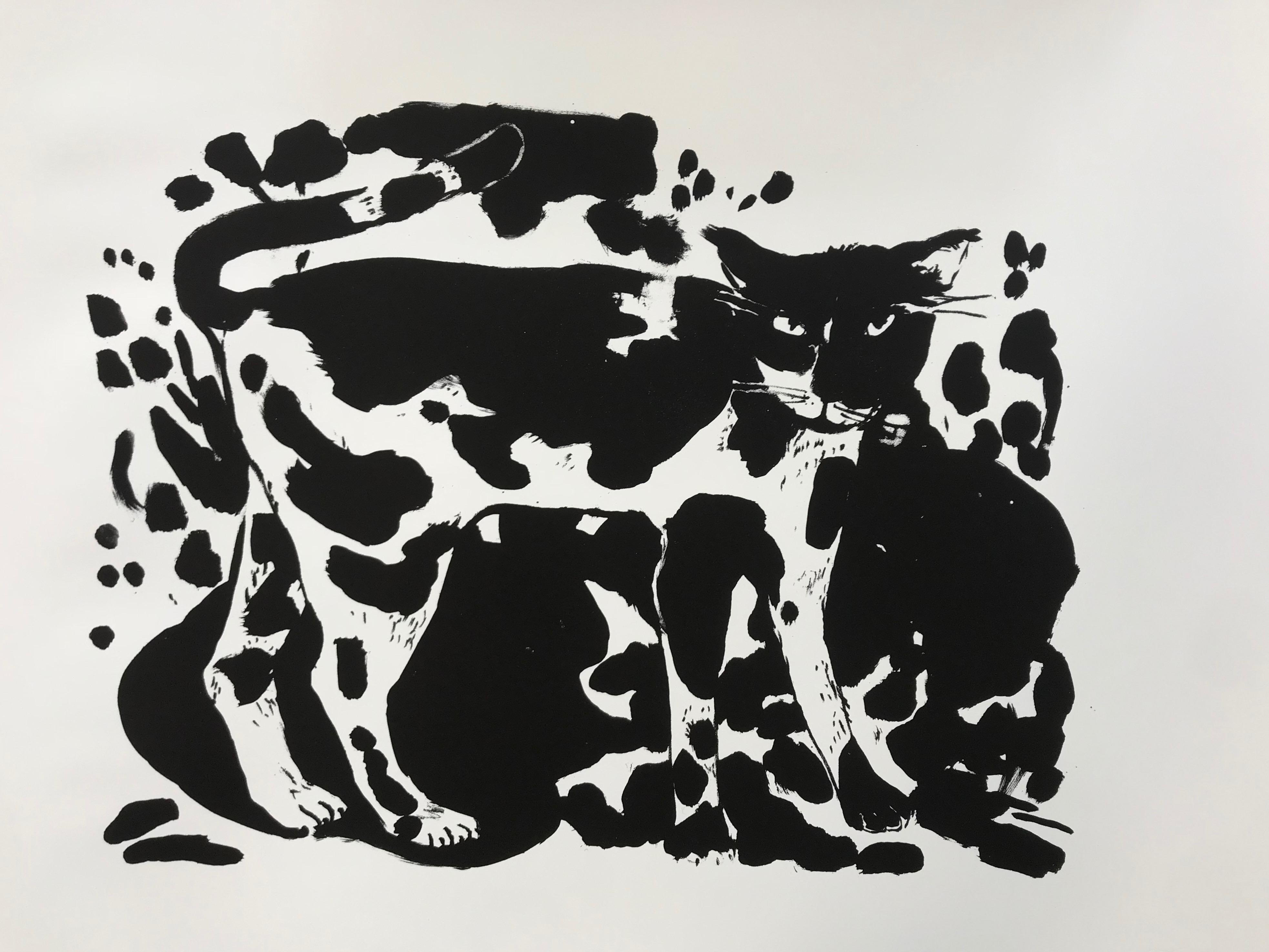 Le chat de la rue de la Glacière - 56 x 76 cm