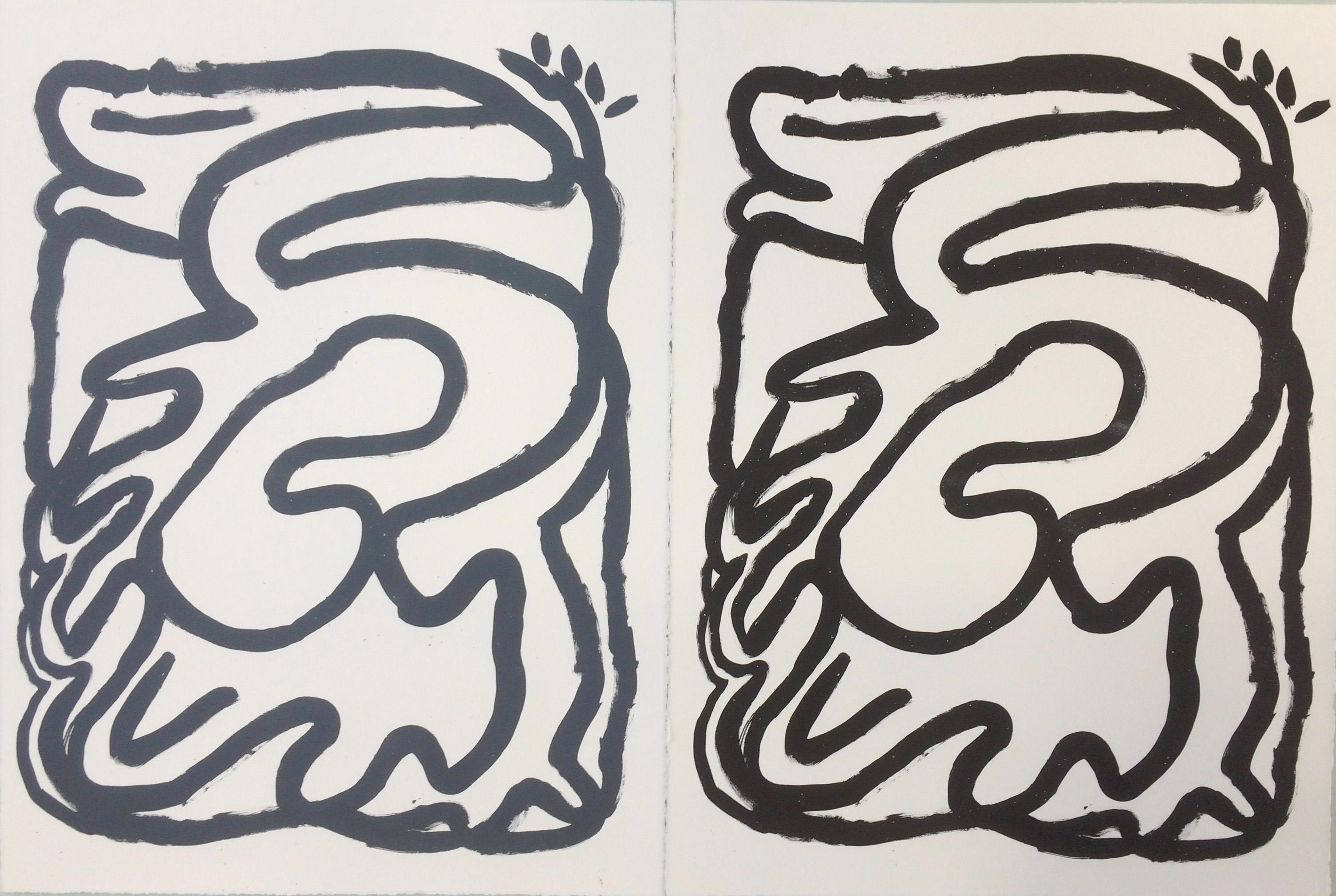 Serpent, 56 x 76 cm