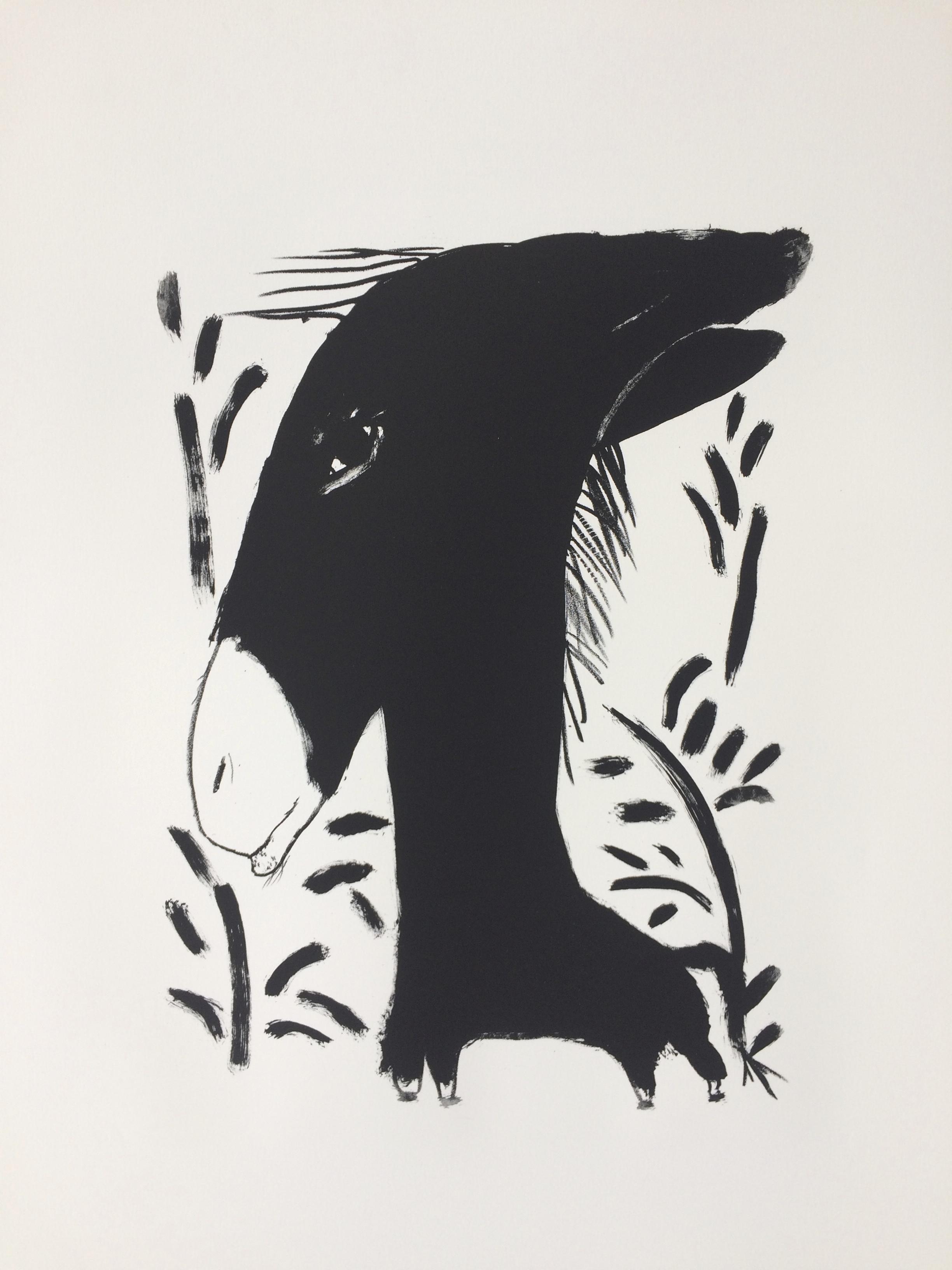 L'âne, 56 x 76 cm
